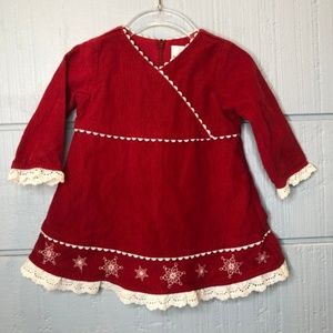 Hanna Andersson Dresses - Hanna Andersson 70 Red Corduroy Dress